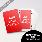 Classic Bridge Style Poker Size Custom Front and Back Playing Cards (63.5 x 88.9mm)