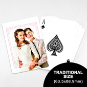 Wedding Photo Playing Cards – Dreamy Pink (63.5 x 88.9mm)