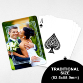 Wedding Photo Playing Cards – Blue Nature (63.5 x 88.9mm)