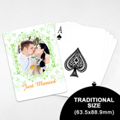 Wedding Photo Playing Cards – Refreshing Green (63.5 x 88.9mm)