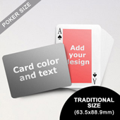 Classic Personalized Both Sides Landscape Back Playing Cards (63.5 x 88.9mm)
