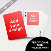 Top Portrait Photo Custom Front and Back Playing Cards (63.5 x 88.9mm)