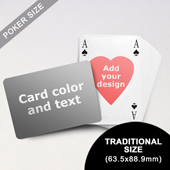 Heart-to-Heart Series – Custom Back Playing Cards in Bridge Style (Landscape) (63.5 x 88.9mm)