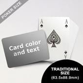 Bridge Style Selection - Poker With Custom Message (Landscape) (63.5 x 88.9mm)