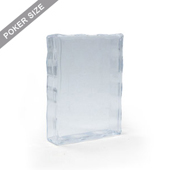 Clear plastic case for 55 poker size playing cards