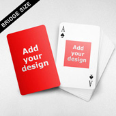 Bridge Size Playing Cards – Square Back