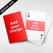 Bridge Size Playing Cards – Horizontal Frame Back