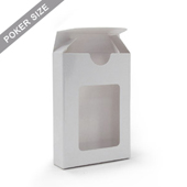 Window tuck box for 54 poker playing cards