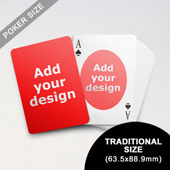 Ovate Custom Front and Back Playing Cards (63.5 x 88.9mm)