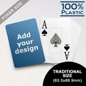 Design Plastic Jumbo Poker Cards (63.5 x 88.9mm)