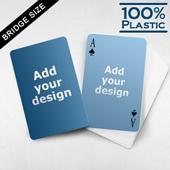 Custom Face and Back Plastic Bridge Cards