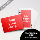 Classic Custom Front and Landscape Back Playing Cards (63.5 x 88.9mm)