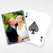 Wedding Anniversary Playing Cards, Purple Antique