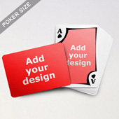 Modern Custom Front and Landscape Back Playing Cards