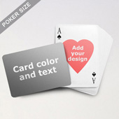 Heart-to-Heart Series – Custom Back Playing Cards (Landscape)
