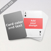Landscape Photo Personalized Both Sides Playing Cards
