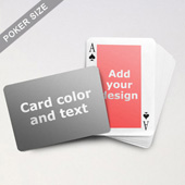 Classic Personalized Both Sides Landscape Back Playing Cards