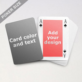Classic Bridge Style Poker Size Personalized Both Sides Playing Cards