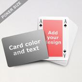 Classic Bridge Style Poker Size Personalized Both Sides Landscape Back Playing Cards