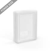Hinged PP plastic box for 55 poker size playing cards