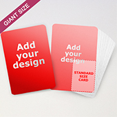 Giant Size Custom Playing Cards