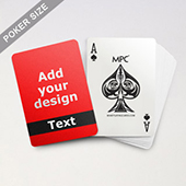 Classic Black Personalized Photo Playing Cards