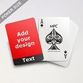 Cool Black Personalized Photo Playing Cards