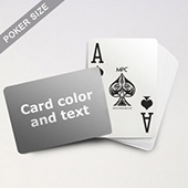 Custom Text Jumbo Index MPC Playing Cards (Landscape)