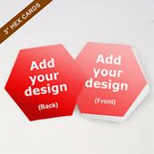 Custom Medium Size Hex Game Cards 2.6