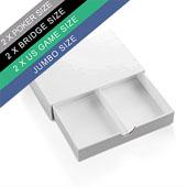 Plain Double Drawer Box For 2 Poker Size Decks