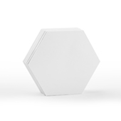 48 Medium Blank Hex Cards (2.6