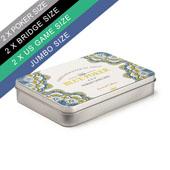 Custom Labeled Tin Box For Double Poker/Bridge Deck