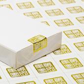 Custom Gold Foil Stamp Seals for Tuck Box