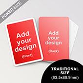 Custom White Border Poker Sized Cards
