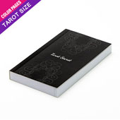 Custom tarot size perfect bound booklet with colored pages (up to 192 pages)