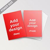 Custom poker size square corner cards