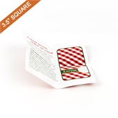 Custom Cross Fold Booklet for 3.5 Square Inch cards