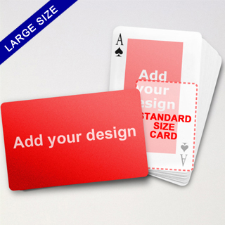 Large Playing Cards Series – Double Face Classic Poker (Landscape)