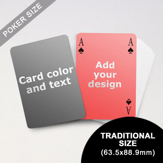Simple Bridge Style Poker Size Personalized Both Sides Playing Cards (63.5 x 88.9mm)