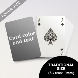 Bridge Style Selection - Poker With Custom Message (63.5 x 88.9mm)