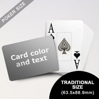 Jumbo Index Cards - Poker Size With Custom Message (Landscape) (63.5 x 88.9mm)
