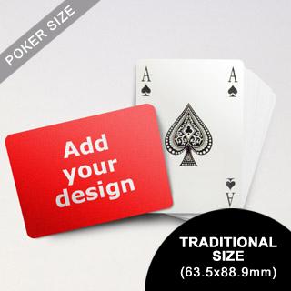 Bridge Style Selection - Custom Poker (Landscape) (63.5 x 88.9mm)