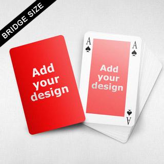 Bridge Size Playing Cards - Rectangular Back, 4-index