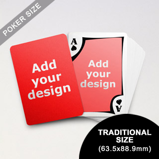 Modern Custom Front and Back Playing Cards (63.5 x 88.9mm)
