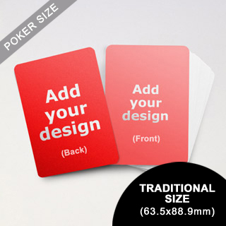 Traditional poker size cards