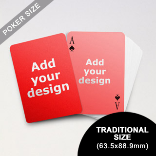 Simple Custom Front and Back Playing Cards (63.5 x 88.9mm)