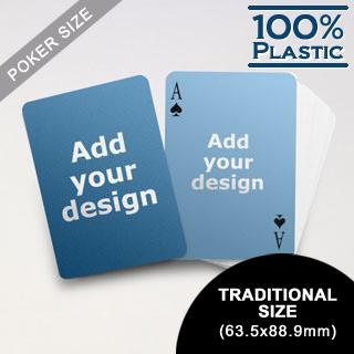 Plastic Poker Size Custom 2 Sides (63.5 x 88.9mm)