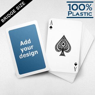 White Border Custom Plastic Bridge Cards