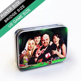 Custom tin box for poker/bridge sized playing cards