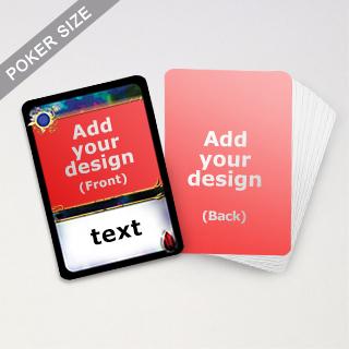 Custom Trading Game Cards (Blue)
